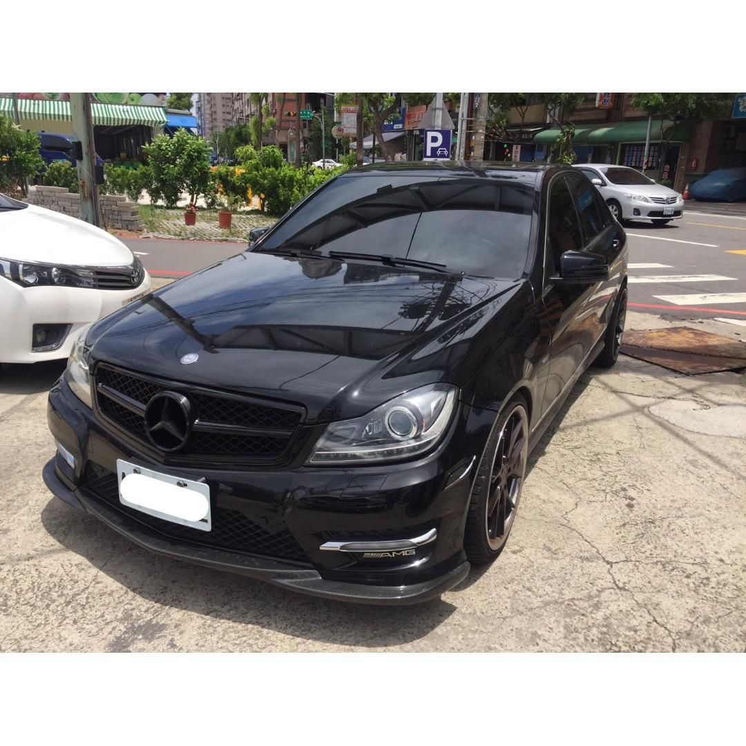 【FB搜尋桃園阿承】賓士 超人氣C250跑6萬 2012年 1.8 黑色 二手車 中古車