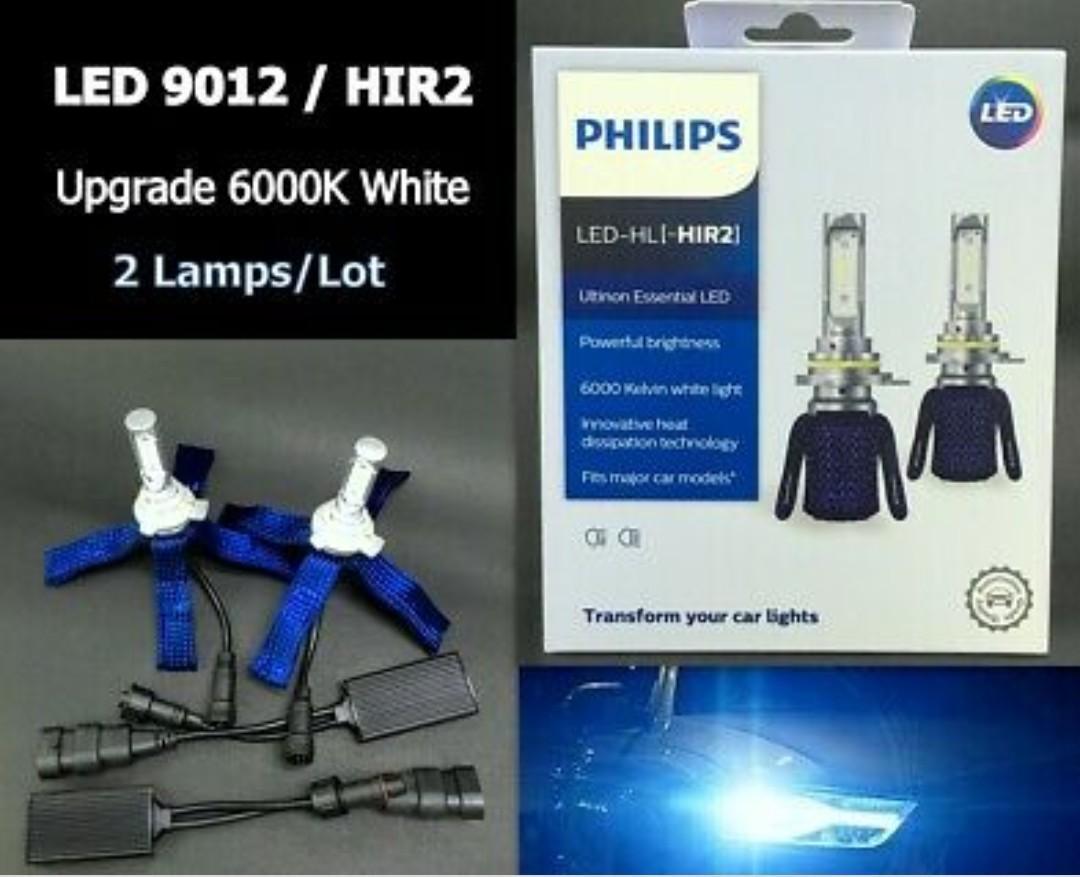 Philips Ultinon Essential LED 6000K White 9012 HIR2 Bulb Head Light Beam lamp