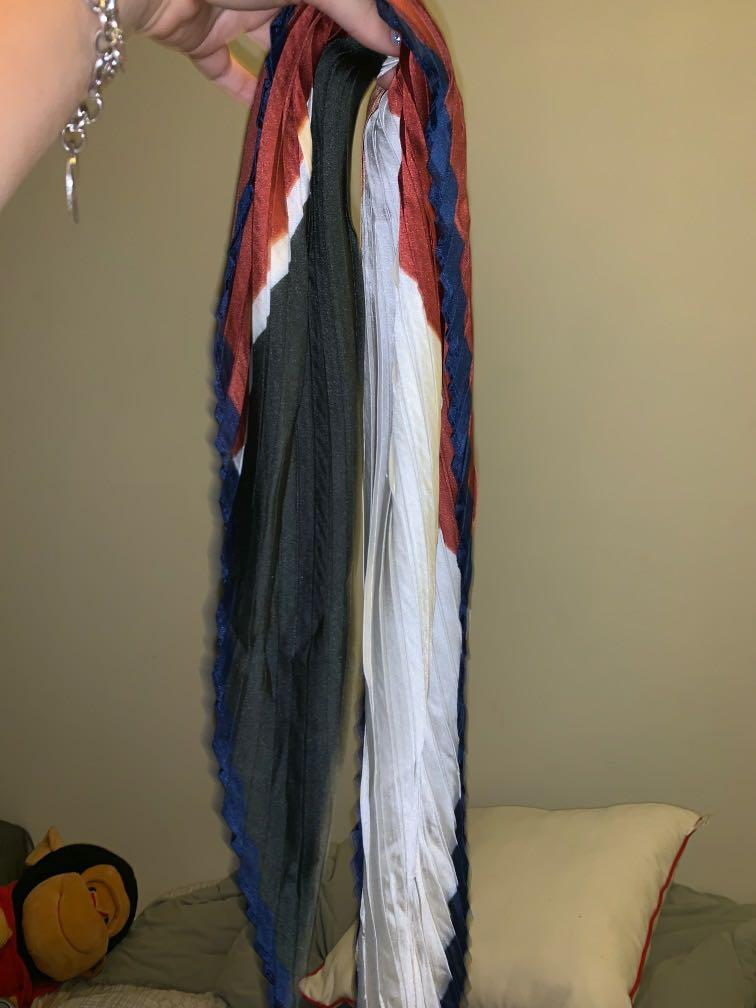 hair and bag scarf tie