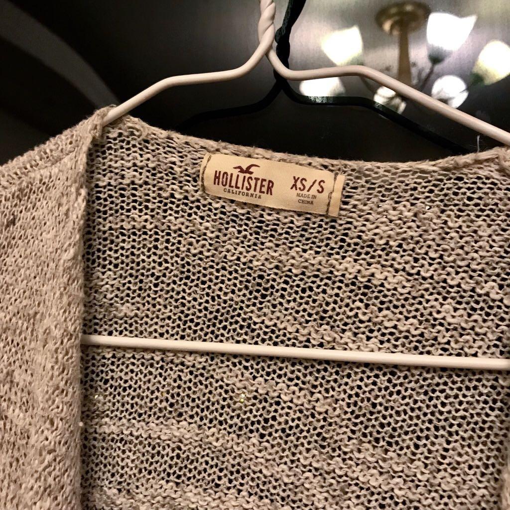 Hollister Jacket 米白色針織外套