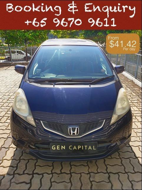 Honda Jazz 1.5A @ Lowest rental rates, good condition!
