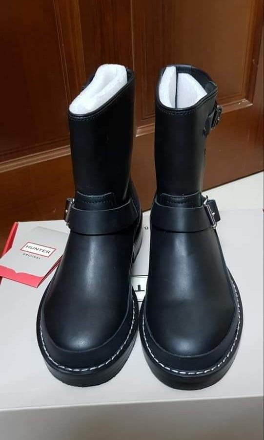 HUNTER 皮革騎士短靴