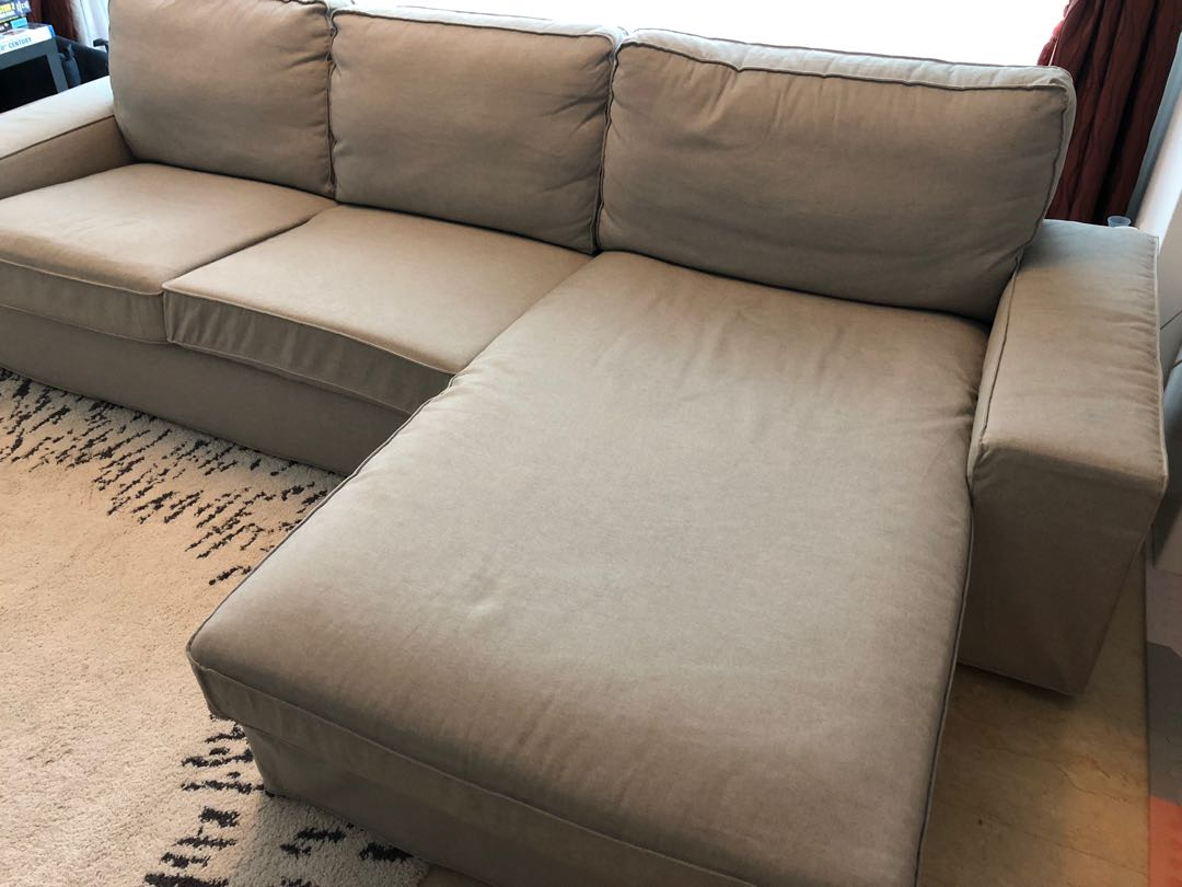 Ikea L Shaped Couch.Ikea Kivik L Shaped Sofa And Chaise Light Grey