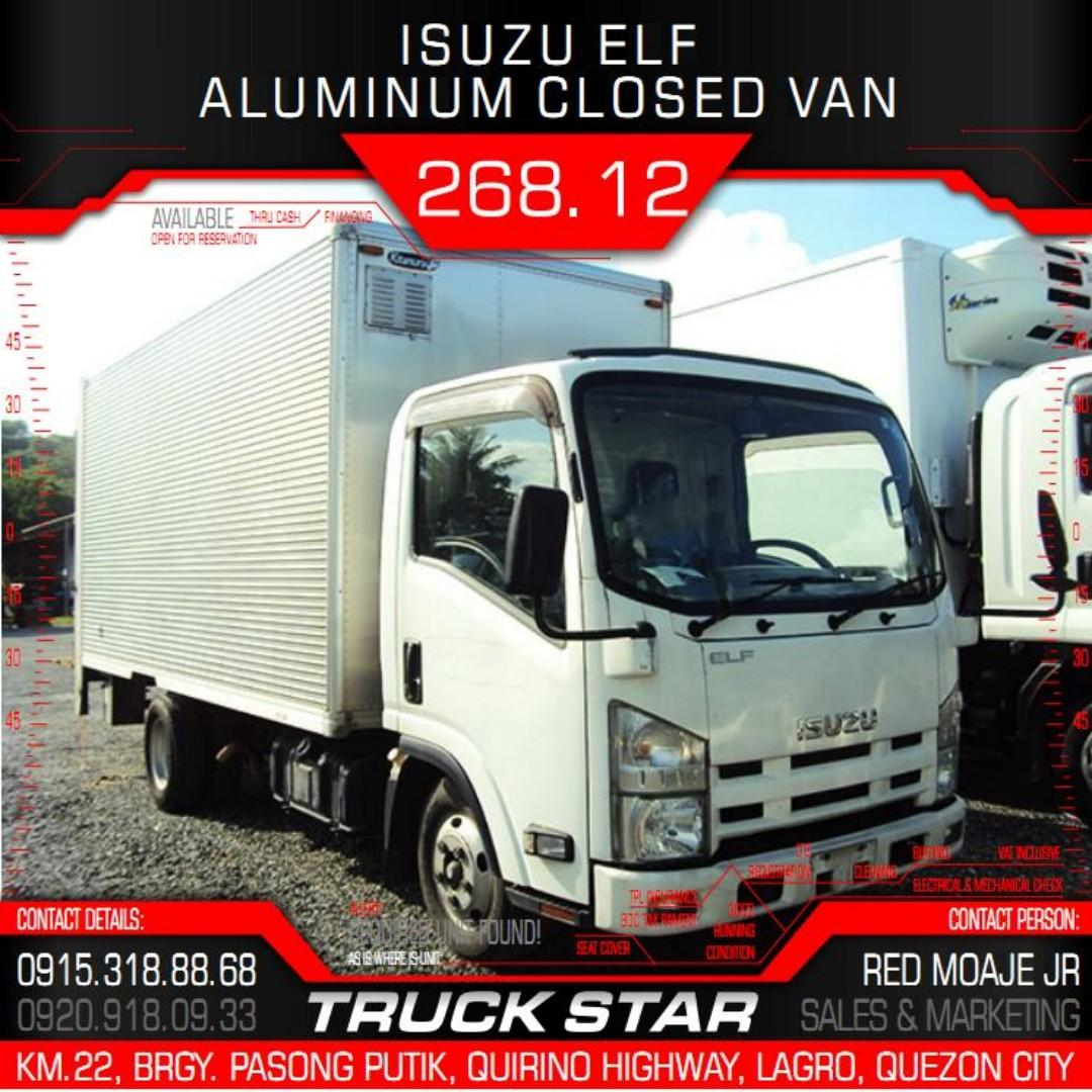 Isuzu Elf Aluminum Closed Van 4JJ1 Engine 14Footer Truck For Sale