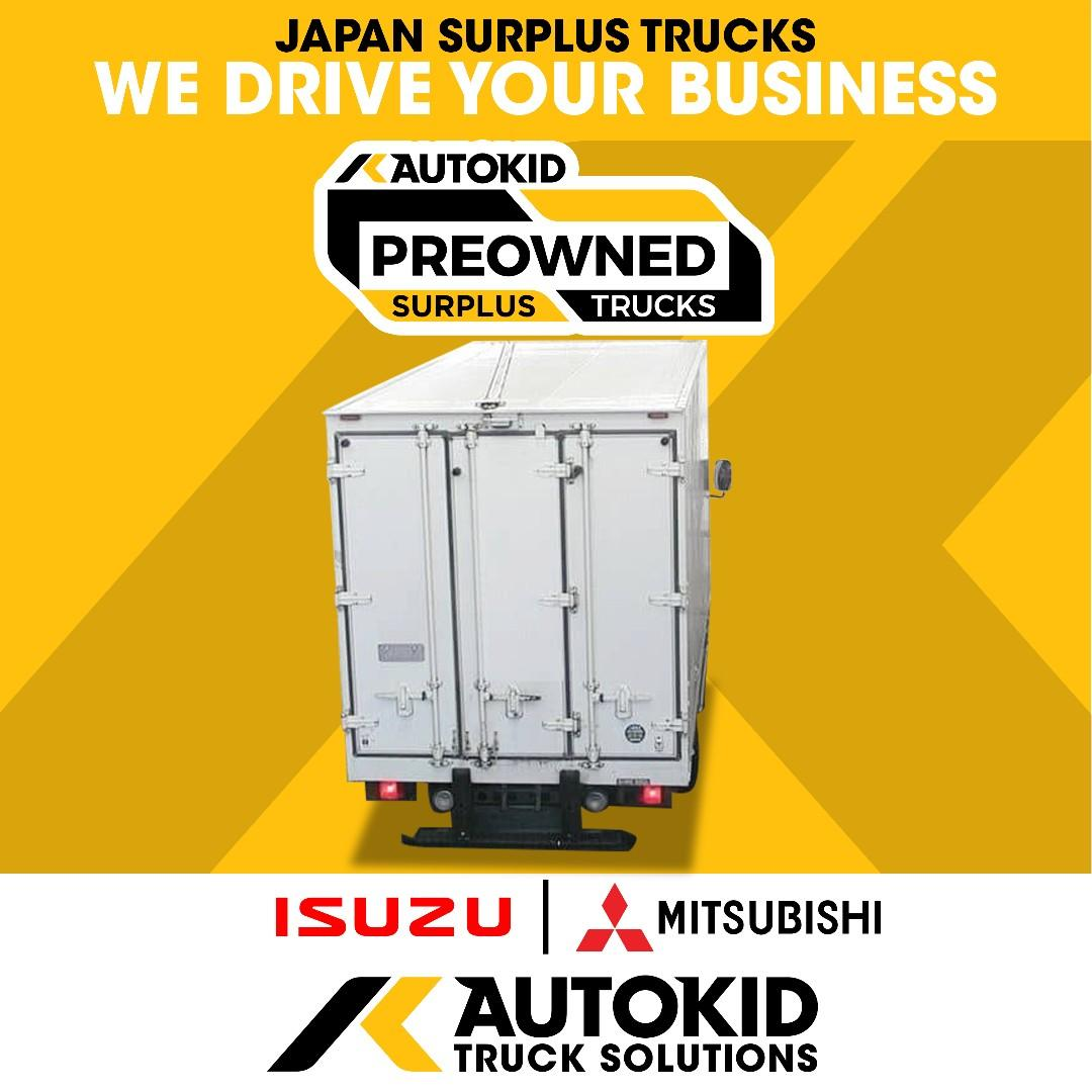 ISUZU ELF Refrigerated van - AUTOKID Japan Surplus Trucks - Wing van - Drop side - Dump truck - Excavator - Self loader - Mixer - Crane - Aluminium van - Brand new trucks from Donfeng - Foton - Howo