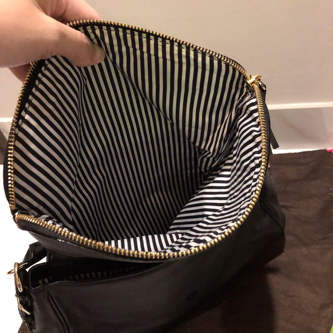 Kate Spade Bag authentic black leather bisa shoulder bisa crossbody like new complete set