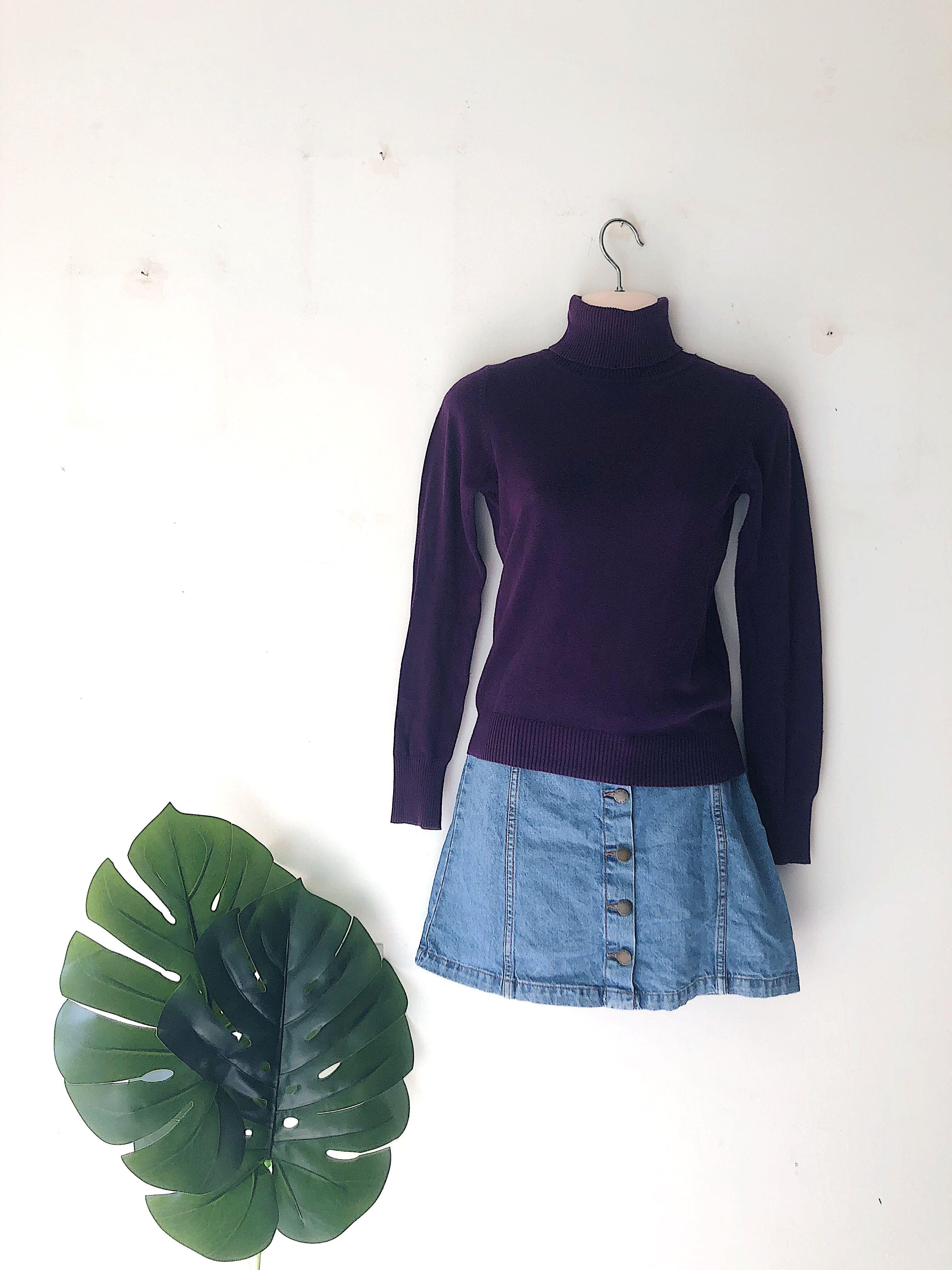 Knitted Turtleneck Top