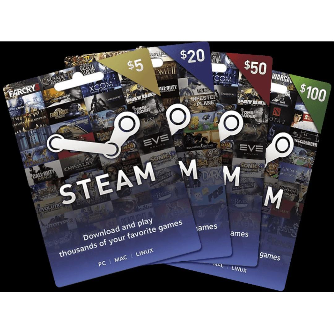 Steam Gift Card Lowest Amount