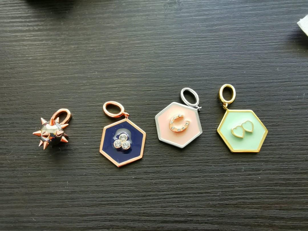 Mimco charms assorted brand new with original pouch