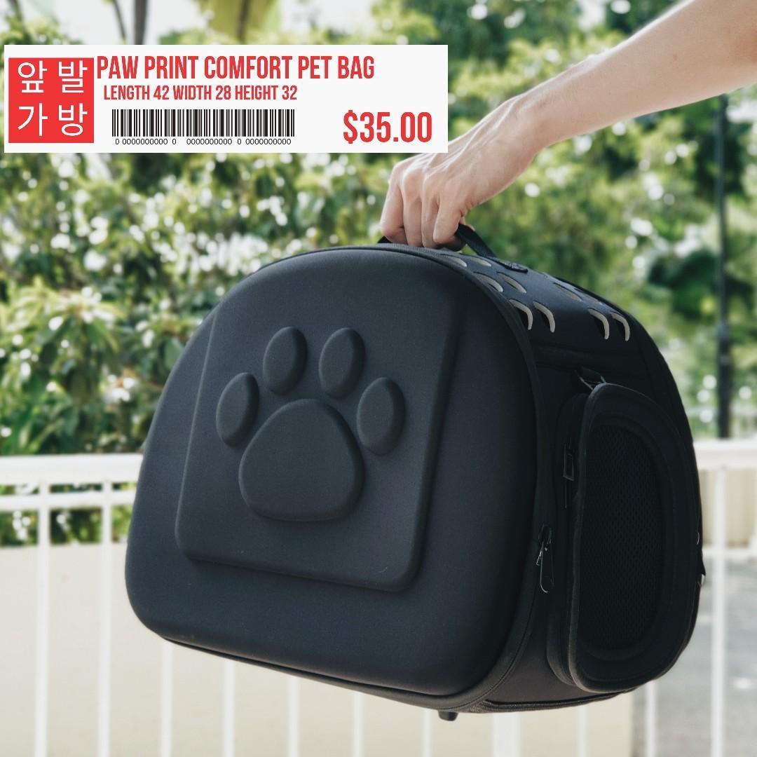 Paw Print Comfort Pet Bag