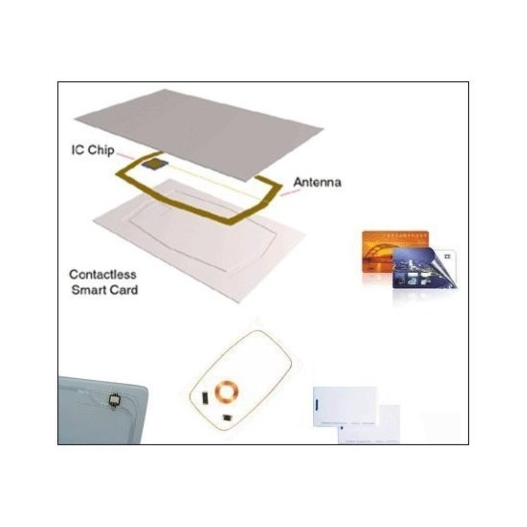 Plain rfid card Rewritable rfid card 13 56mhz 125khz With serial