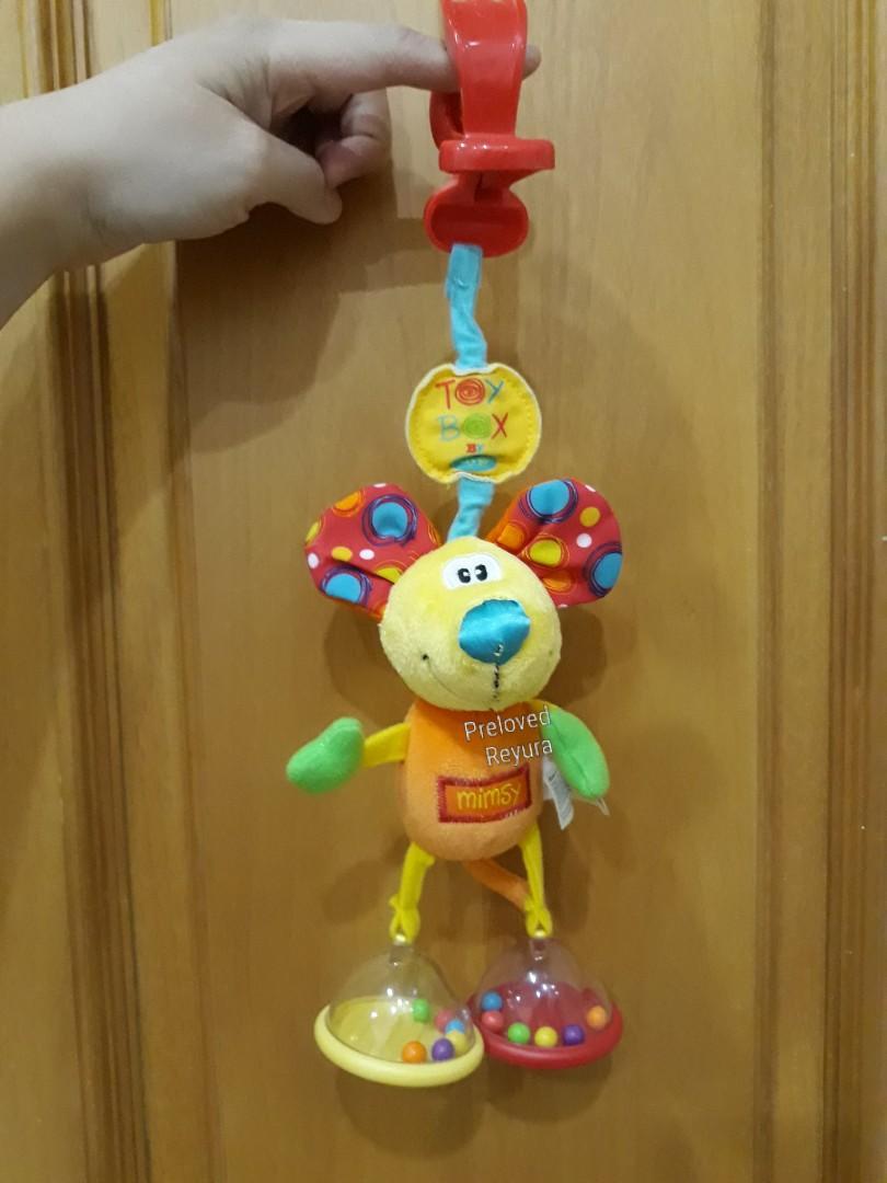 Playgro gigitan bayi teether gantungan stroller travel toy