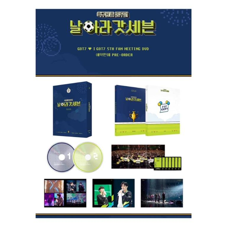 [Pre-order] GOT7 갓세븐 GOT7 ♥ I GOT7 5TH FAN MEETING DVD - 축구왕을 꿈꾸며 [날아라 갓세븐]