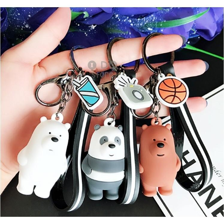 【READY STOCK】We Bare Bears Cute Cartoon Keychain (Ice Bear/Panda/Grizzly)