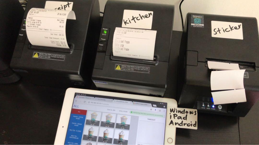 Receipt printer with free POS software on Carousell