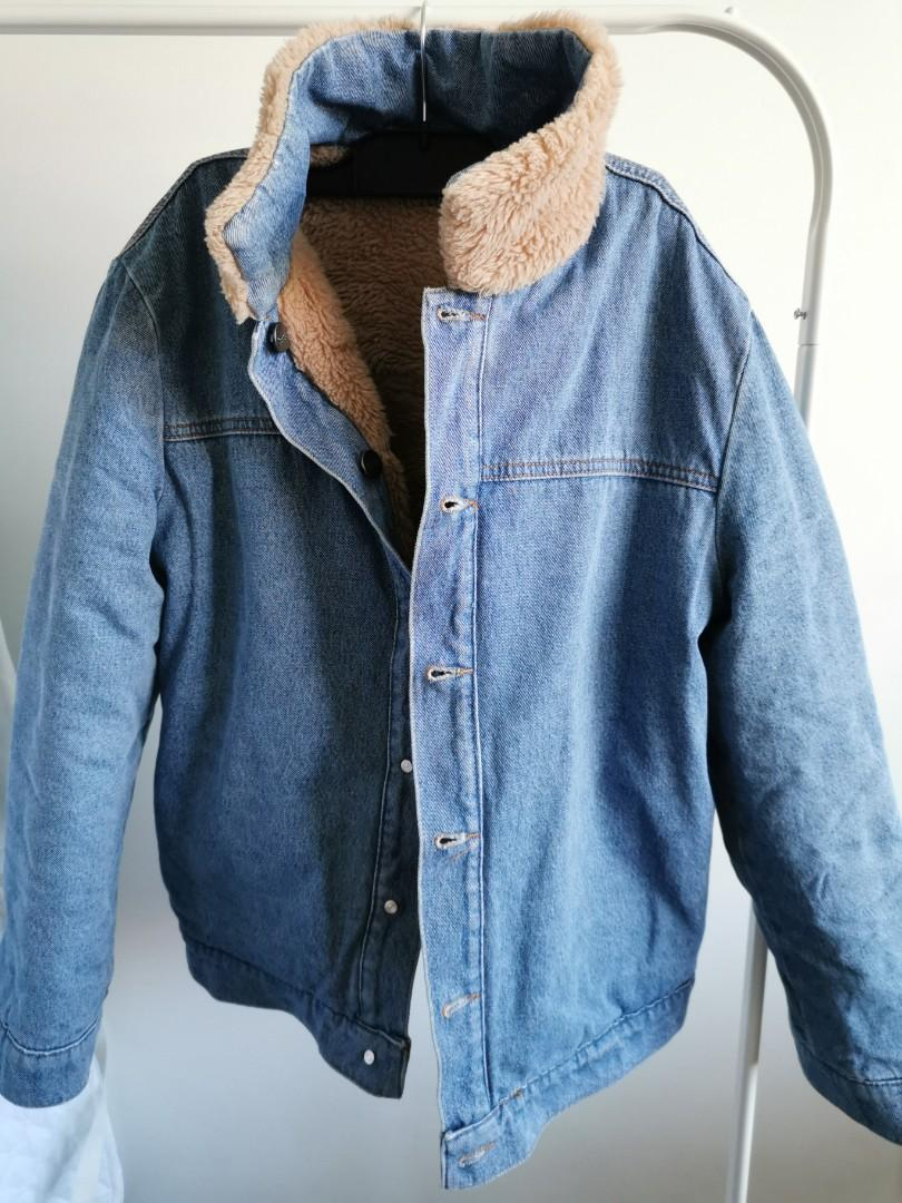 Sportsgirl Teddy denim two sided coat/jacket size 8