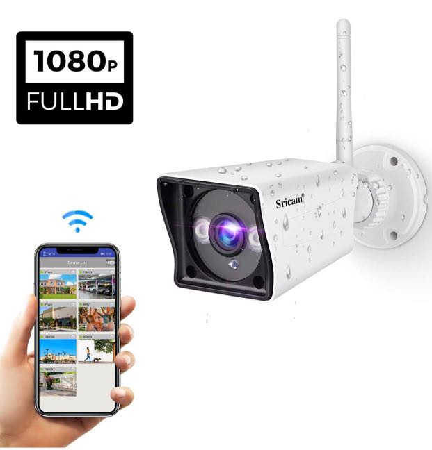 Sricam Outdoor WiFi Security Camera 1080P HD Surveillance System Wireless  ip Camera Weatherproof IR LED Night Vision Motion Detection Home Video