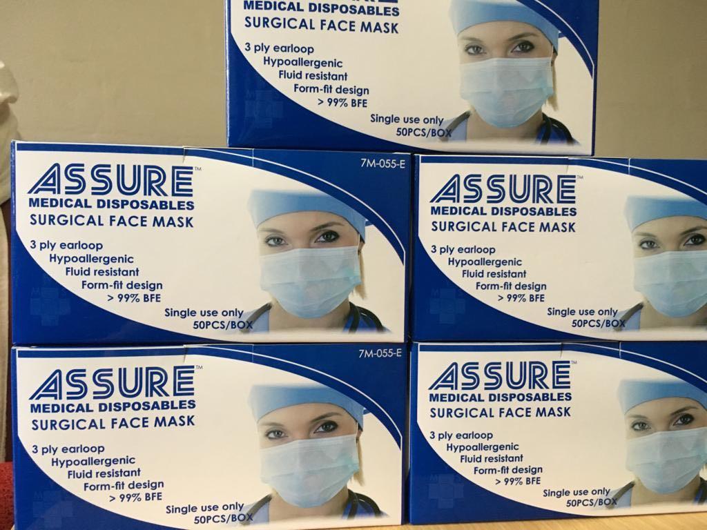 Assistive Masks 50 Devices Personal Pcs Face Box Surgical Per