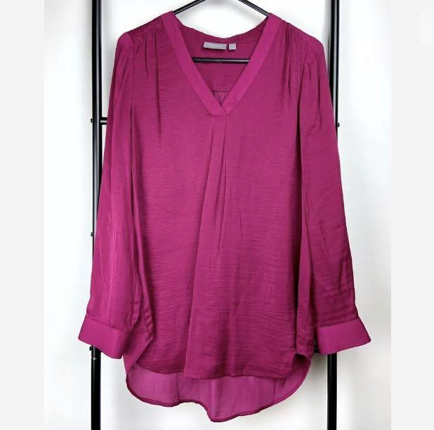 Sussan 10 purple pink fuchsia top shirt blouse tunic smart casual work career