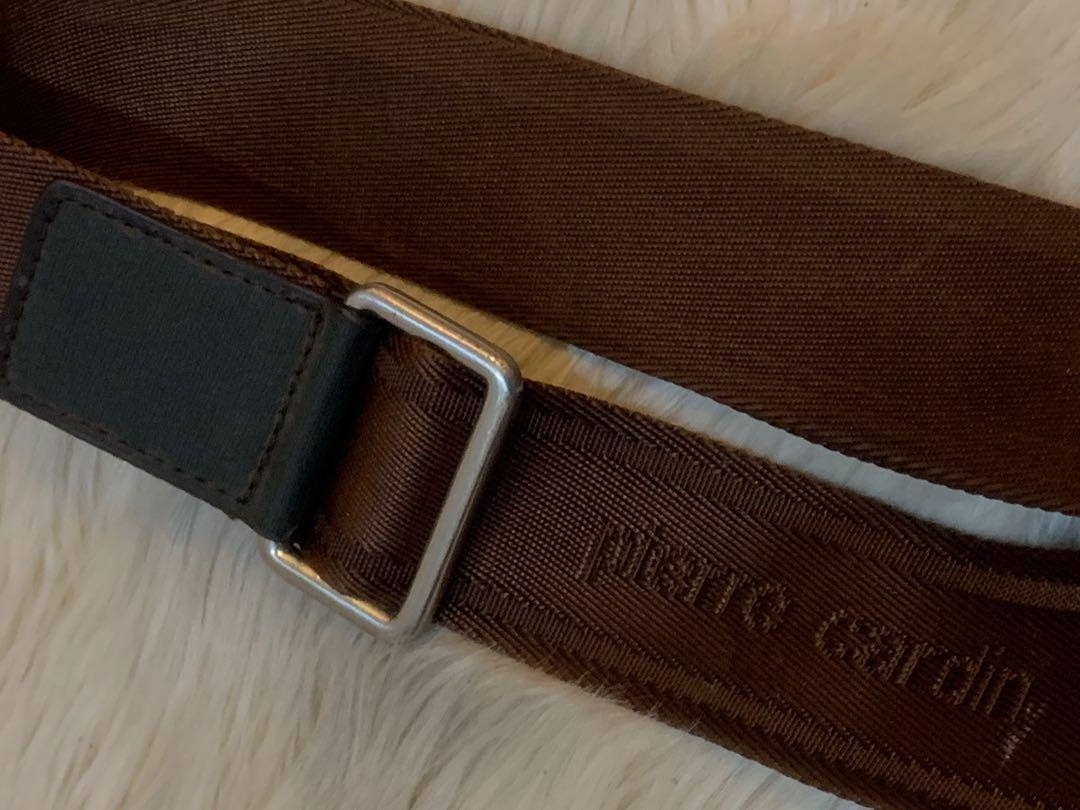 Tas slempang Pierre Cardin import authentic full leather banyak sekat