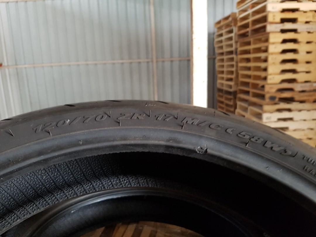 Used tyre 120 70 17.....3 pcs avail $30 each