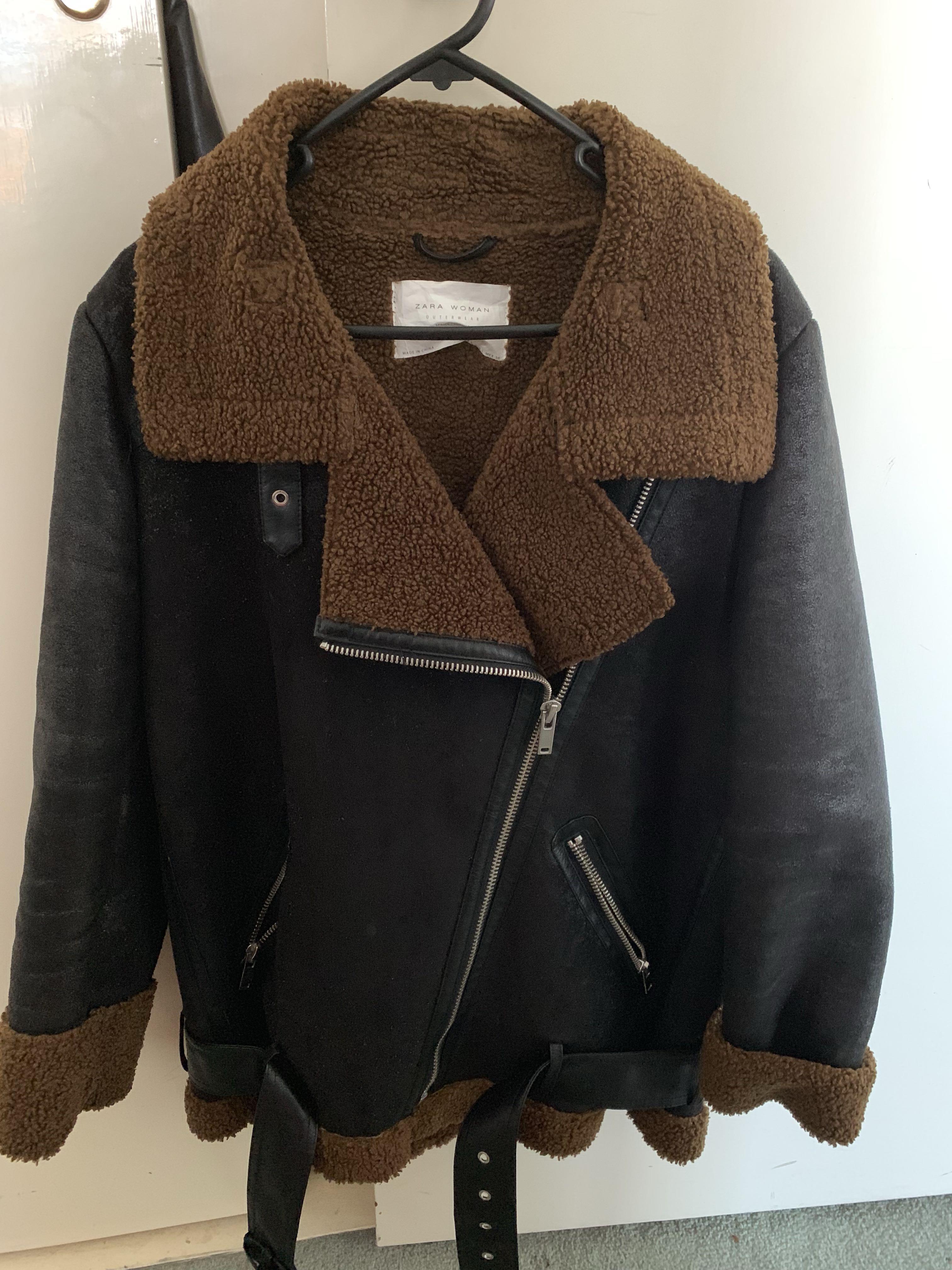 Zara aviator jacket large suit medium to large very good condition