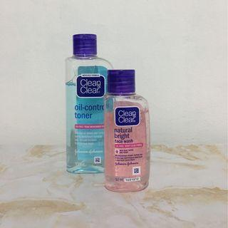 Clean & Clear Oil Toner & Face wash