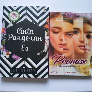 Paket Novel Fiksi Remaja Rumah Tangga Judul Promise (Tisa TS, Dwitasari) dan Cinta Pangeran Es (Dinni Adhiawaty)