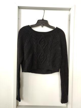 Express Black Crop Sweater