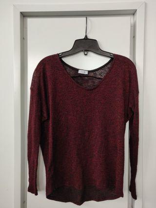 Tobi knit maroon sweater