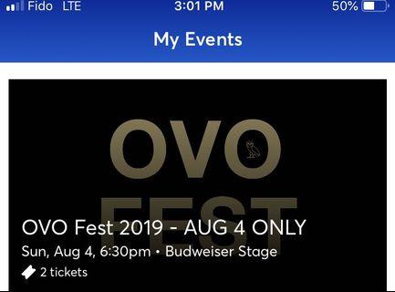 OVO DAY 1 - 2 lawn tickets hard copy