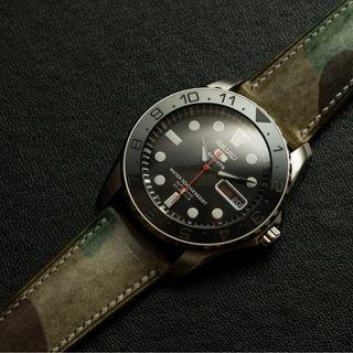 Waxed Camouflage Signature Watch Strap - Delugs