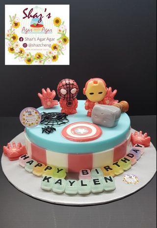 Super Hero Theme Agar Agar Birthday cake
