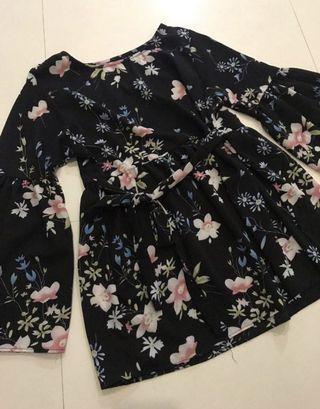 Babydoll floral top