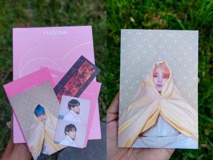 Album BTS Persona versi 1 photocard Jungkook, postcard Taehyung & Jimin OFFICIAL