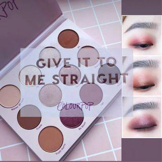 Colourpop eyeshadow palette - give it to me straight