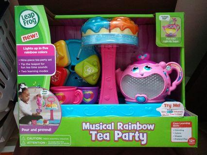 [Free courier] Leapfrog Musical Rainbow Tea Party Set with Stand by Vtech