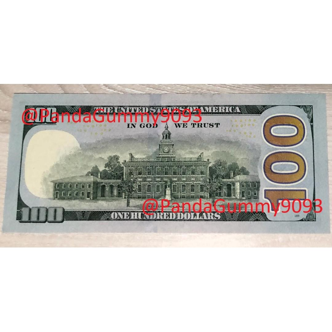 100USD Note Solid Serial Number 66666666