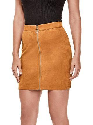 Guess zipped mini skirt (suede material)