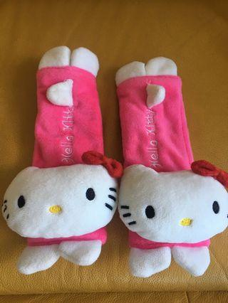 Hello Kitty Seat Belt Cover / Car seat Head Support