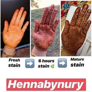 Instant Henna Cone - Ready Stock