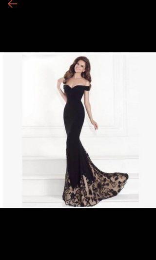 Off shoulder dinner dress