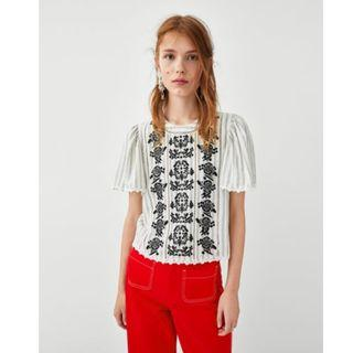 Zara Embroidered Top