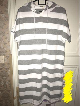 Dress korea strip hoodie big size