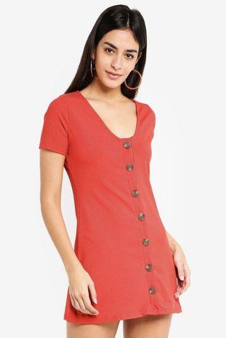[Preloved] Miss Selfridge Button Front Rib Dress