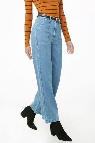 Wide Leg Ankle High-Waisted Jeans