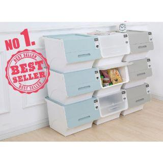 Bundle Of 4 35L Durable & Stackable Pelican Box with Front Opening