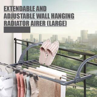 Extendable and Adjustable Wall Hanging Radiator Airer