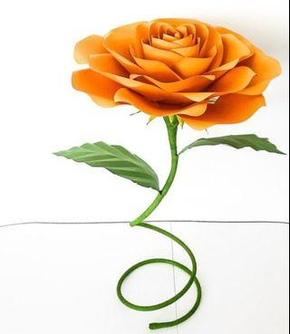 Free standing paper flowers
