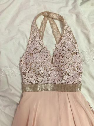 Blush Pink Prom Dress by MORILEE